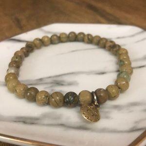 🎈 Marie Chavez Tan marbled Stone bracelet 🎈